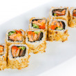 Sushi (Roll Kazuma) on a white background — Stock Photo #14975227