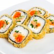 Sushi Roll on a white background — Stock Photo