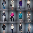 Collection lady's clothes — Stock Photo