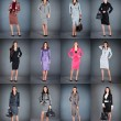 Stock Photo: Collection of women's business suits