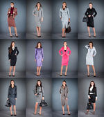 Collection of women's business suits — Stock Photo