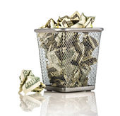 Money in a basket — Stock Photo