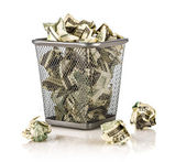 Money in a basket — Foto Stock