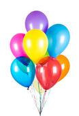 воздушные шары на белом фоне — Стоковое фото