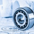 Technical drawings with bearing — Stock Photo #22942044