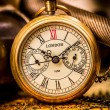 Antique pocket watch. — Foto de Stock