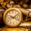 Antique pocket watch. - Stock Photo