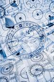 Tekniska ritningar — Stockfoto