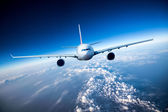 Passenger Airliner in the sky — Stock Photo