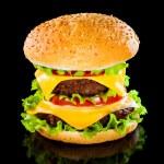 Tasty and appetizing hamburger — Stock Photo