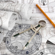 Stock Photo: Technical drawings