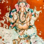 Ganesh ancient fresco — Stock Photo
