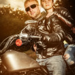 Stock Photo: Biker couple
