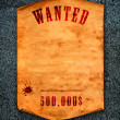 Wanted dead or alive. — Stock Photo