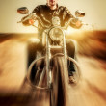 Biker — Photo