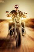 Motociclista — Foto Stock