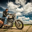 Biker on the road — Stock Photo #26810255