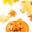 Halloween - old jack-o-lantern — Stock Photo
