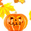 Stock Photo: Halloween - old jack-o-lantern