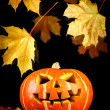 Halloween - old jack-o-lantern — Stockfoto