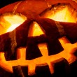 Halloween - old jack-o-lantern — Stock Photo #31216513