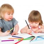 Children draws pencil — Stock Photo #31216723