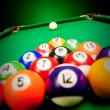 Billiard spheres — Stock Photo