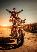 Bikers on the road — Stock Photo