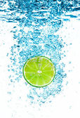 Green lime in the Water. — Stock Photo