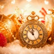 Christmas pocket watch — Stockfoto