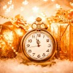 Christmas pocket watch — Stock fotografie