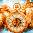 Stock Photo: Christmas pocket watch