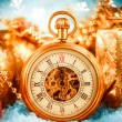 Christmas pocket watch — Stock fotografie #35109959