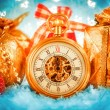 Christmas pocket watch — Stok fotoğraf