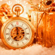 Christmas pocket watch — Stock fotografie