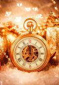 Christmas pocket watch — ストック写真