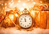 Christmas pocket watch — Stock Photo