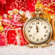 Christmas pocket watch — 图库照片