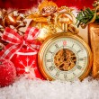 Christmas pocket watch — ストック写真