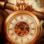 relógio de bolso vintage — Foto Stock