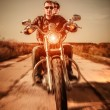 Stock Photo: Bikers on the road