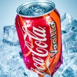 ������, ������: Can of Coca Cola Vanilla on ice