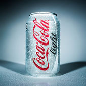 Can of Coca-Cola Lignt. — Stock Photo