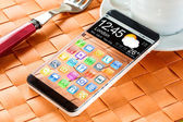 Smartphone with a transparent display. — Stock Photo