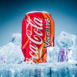 Постер, плакат: Can of Coca Cola Vanilla on ice