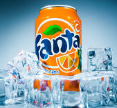 Can of Fanta Orange — Stock Photo