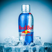 Bottle of Red Bull Energy Drink. — Stock Photo