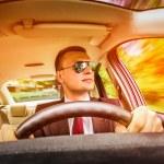 Man driving a car. — Stock Photo