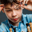 Nerd play chess — Stock Photo #46742341