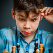 Nerd play chess — Stock Photo #46742351